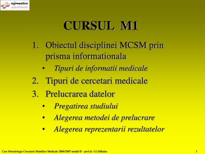 CURSUL  M1