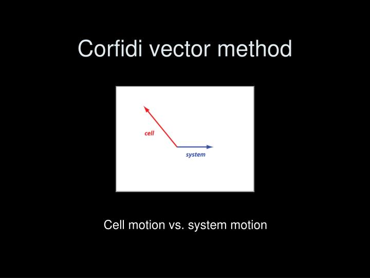 Corfidi vector method