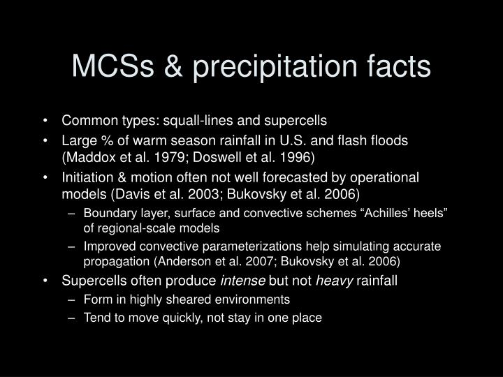 MCSs & precipitation facts