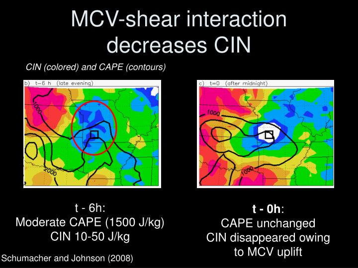 MCV-shear interaction