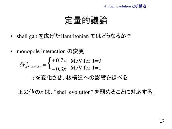 4. shell evolution と核構造