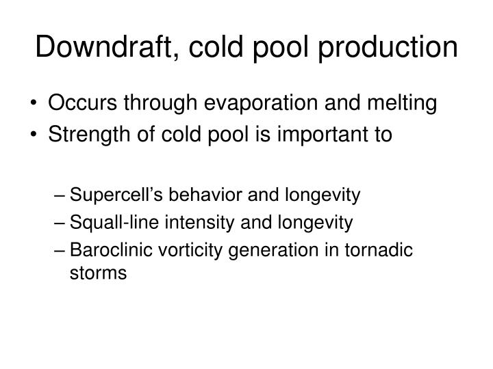 Downdraft, cold pool production