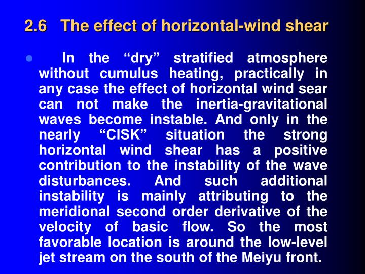2.6   The effect of horizontal-wind shear