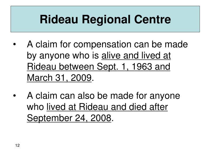 Rideau Regional Centre