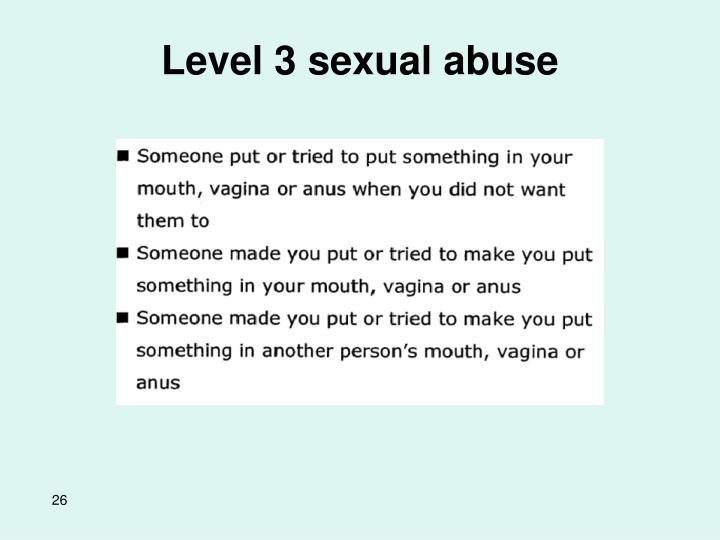 Level 3 sexual abuse