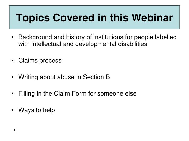 Topics Covered in this Webinar