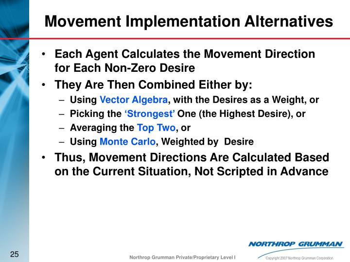 Each Agent Calculates the Movement Direction for Each Non-Zero Desire