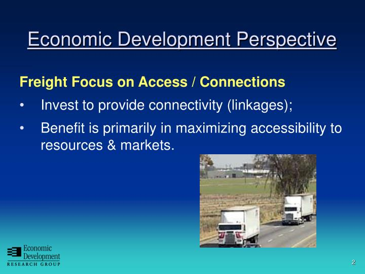 Economic development perspective