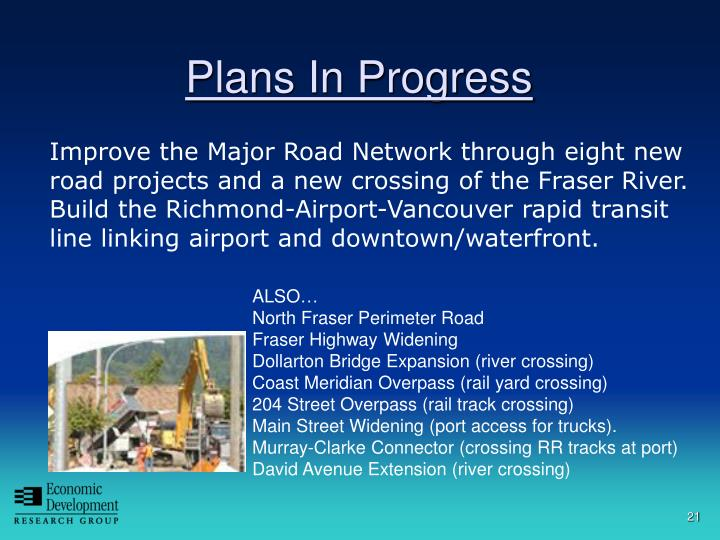 A New Crossing of the Fraser River and Regional Road Improvements