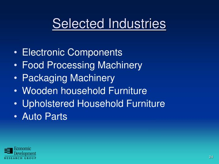 Selected Industries