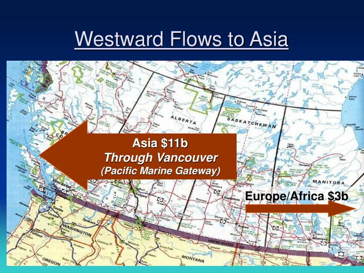 Westward Flows to Asia