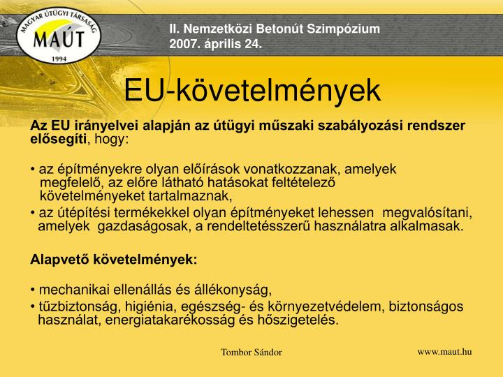 EU-követelmények