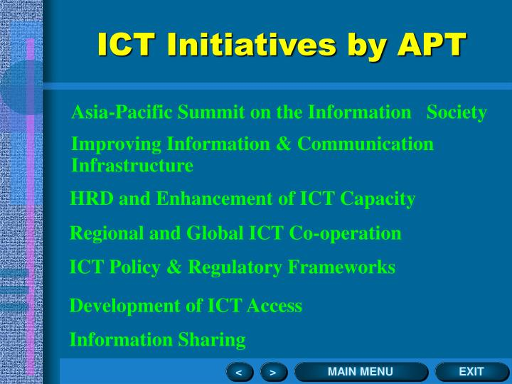 ICT Initiatives by APT