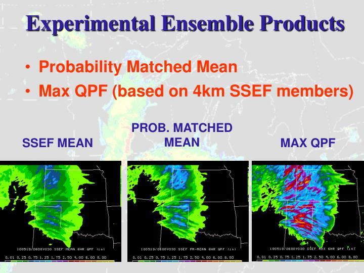Experimental Ensemble Products