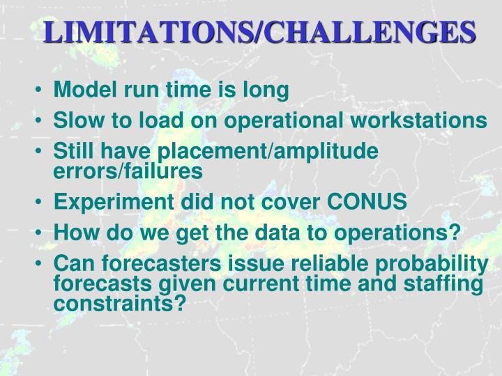 LIMITATIONS/CHALLENGES