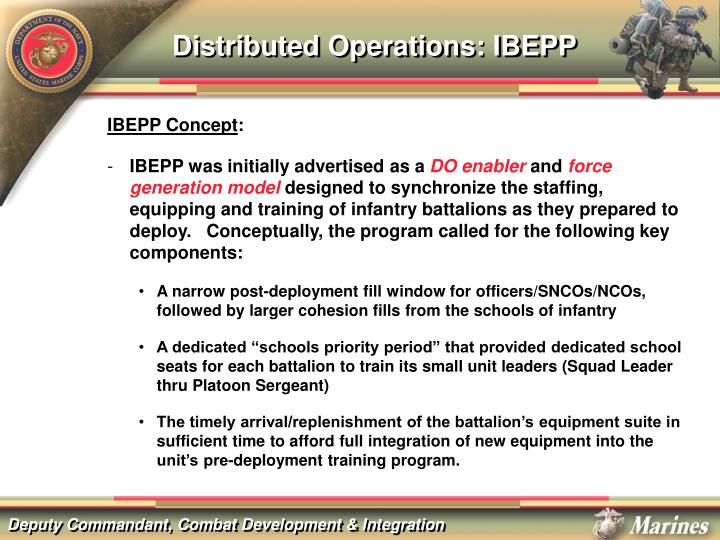Distributed Operations: IBEPP