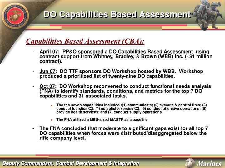 DO Capabilities Based Assessment