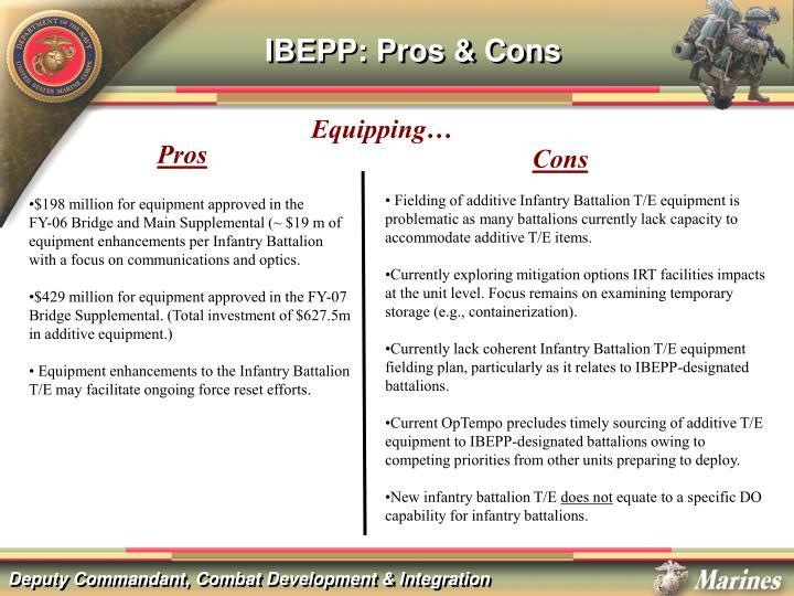 IBEPP: Pros & Cons