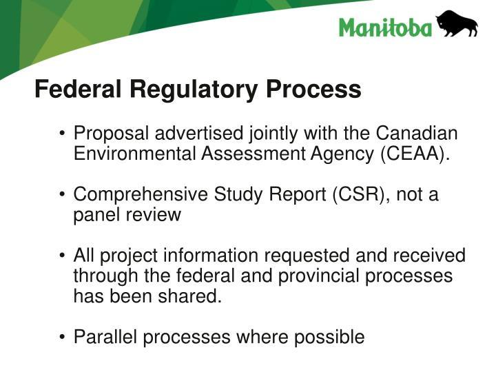 Federal Regulatory Process