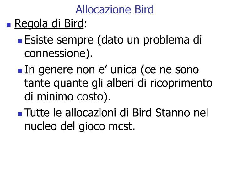 Allocazione Bird