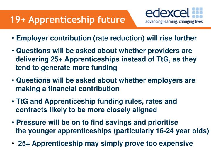 19+ Apprenticeship future