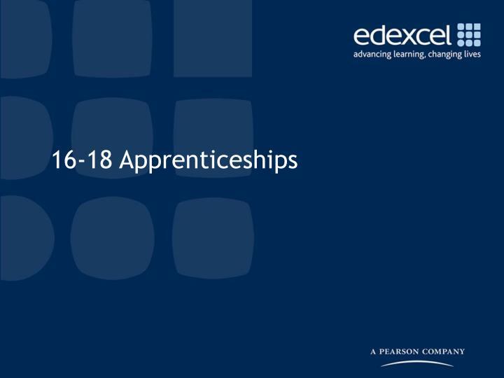 16-18 Apprenticeships