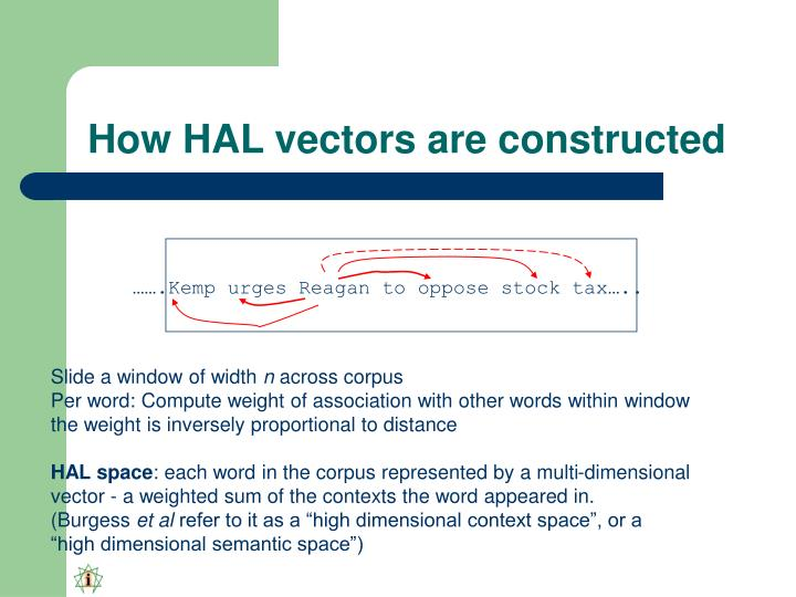 How HAL vectors are constructed