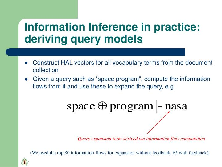 Information Inference in practice: deriving query models