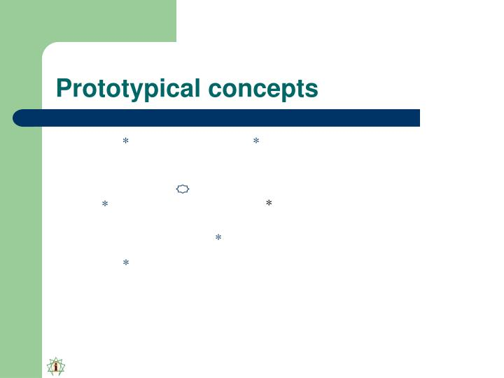 Prototypical concepts