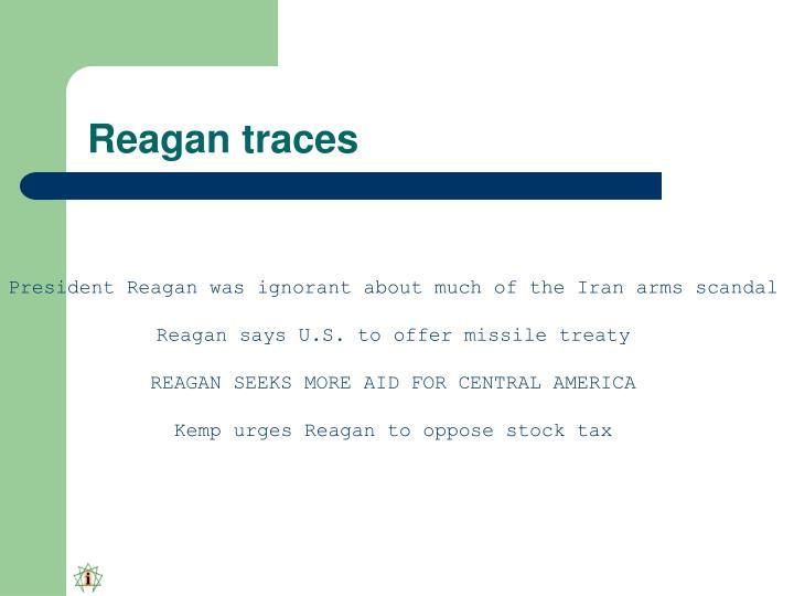 Reagan traces