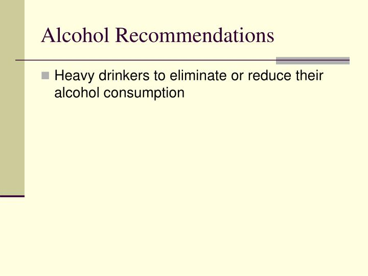 Alcohol Recommendations