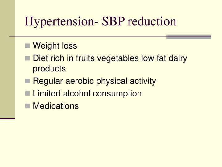 Hypertension- SBP reduction