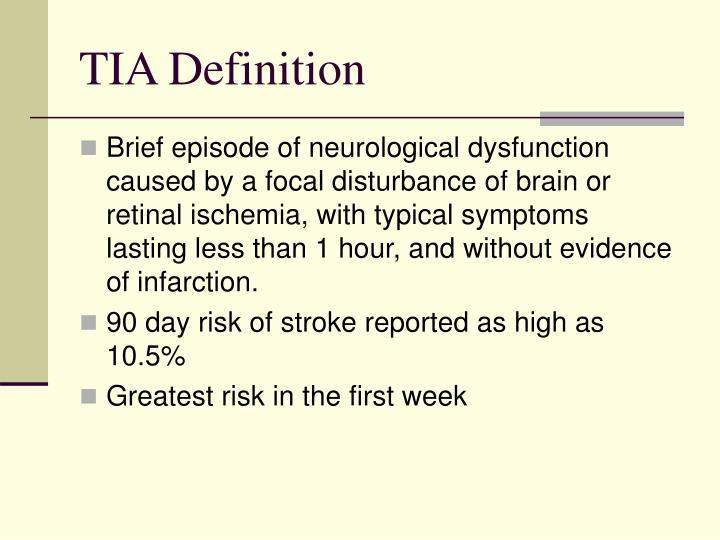 TIA Definition