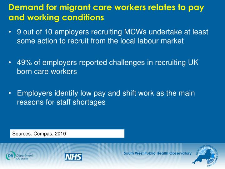 Demand for migrant care workers relates to pay and working conditions