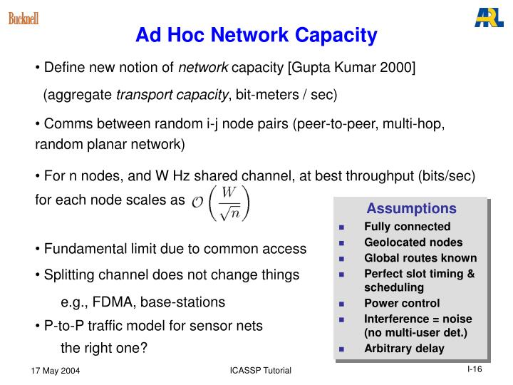 Ad Hoc Network Capacity