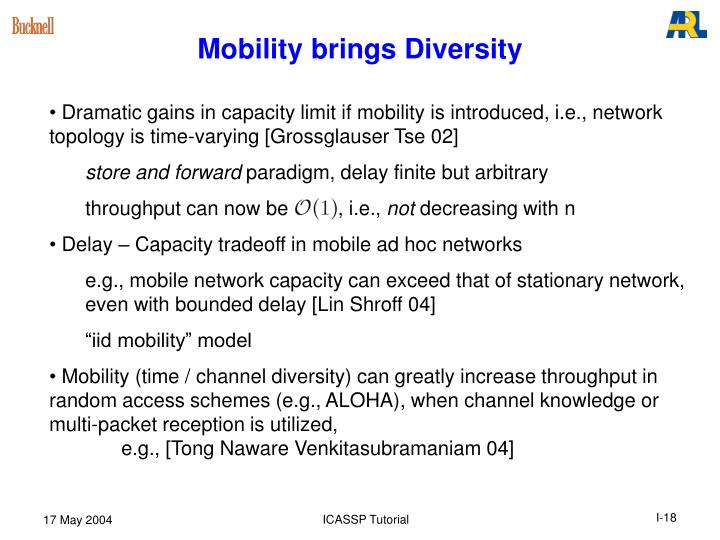 Mobility brings Diversity