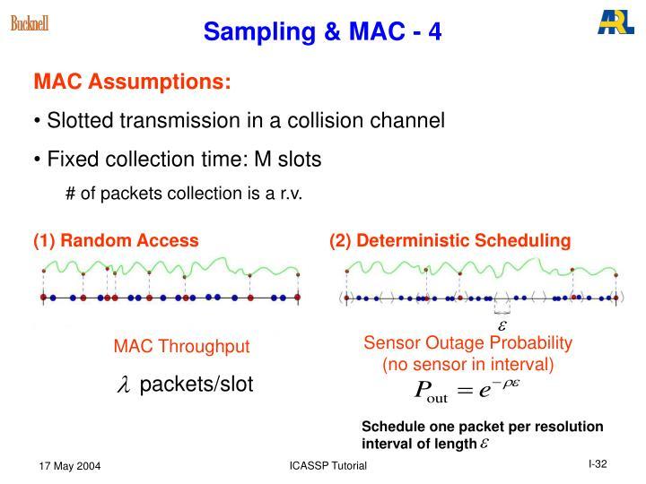 Sampling & MAC - 4