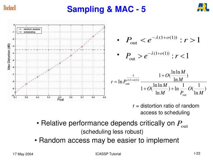 Sampling & MAC - 5