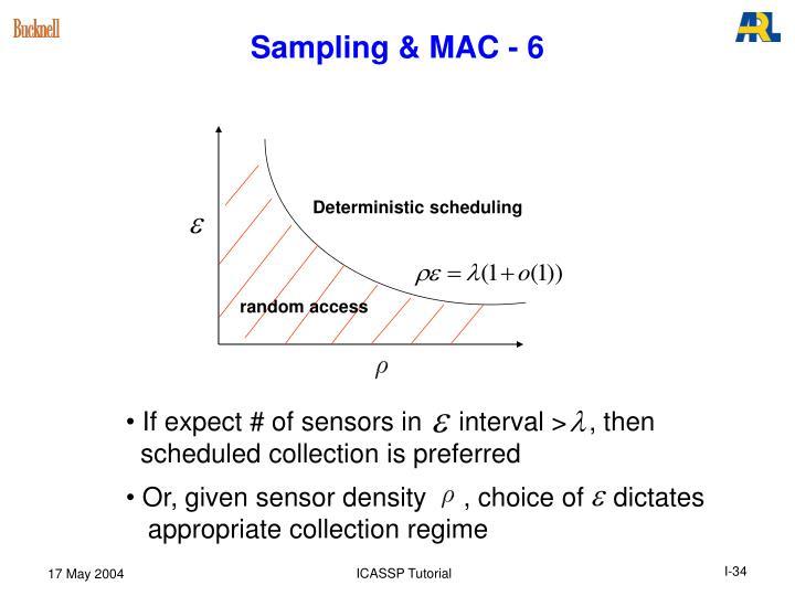 Sampling & MAC - 6