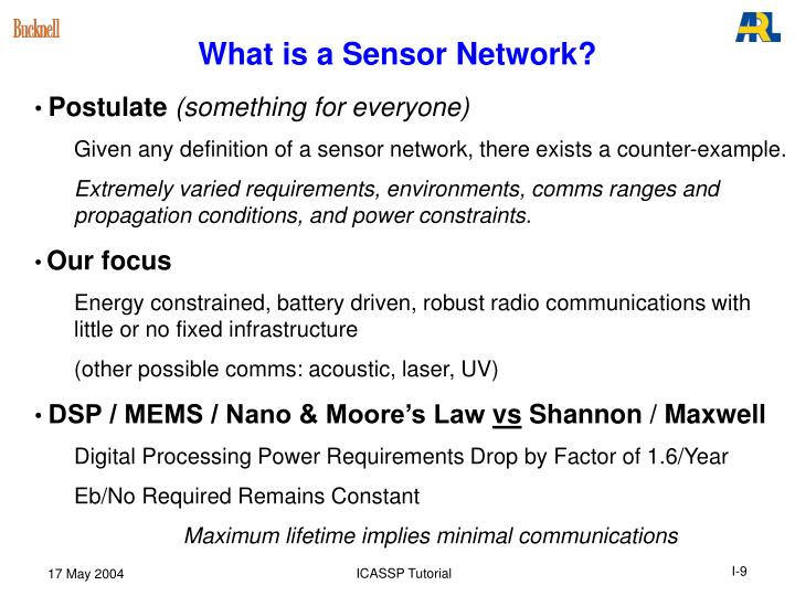 What is a Sensor Network?