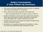 author conclusions 2 year follow up summary