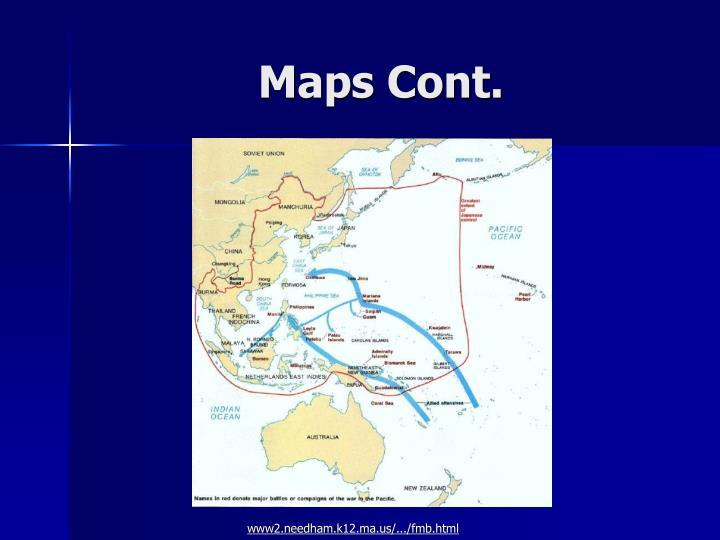 Maps Cont.