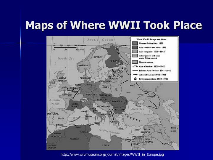 Maps of Where WWII Took
