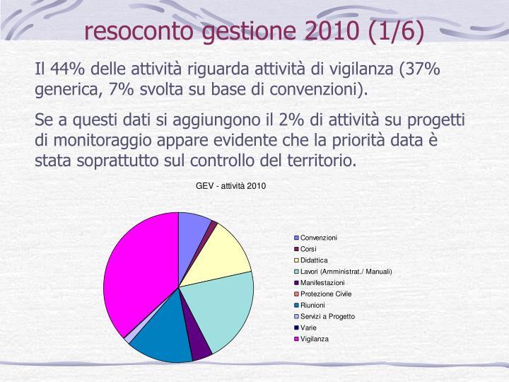 resoconto gestione 2010 (1/6)