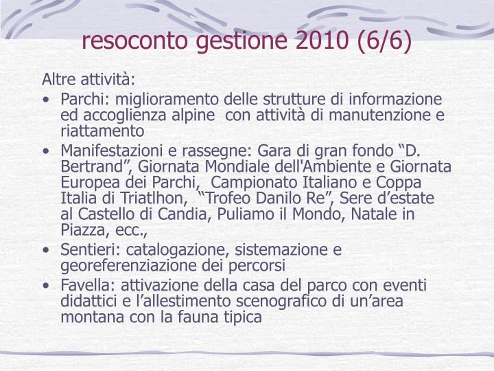 resoconto gestione 2010 (6/6)