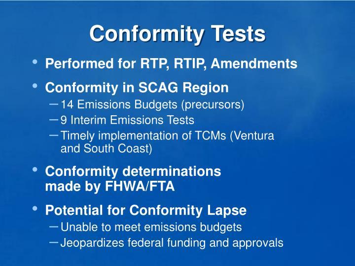 Conformity Tests