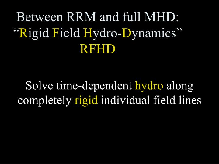 Between RRM and full MHD: