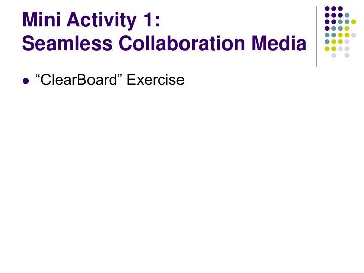 Mini Activity 1: