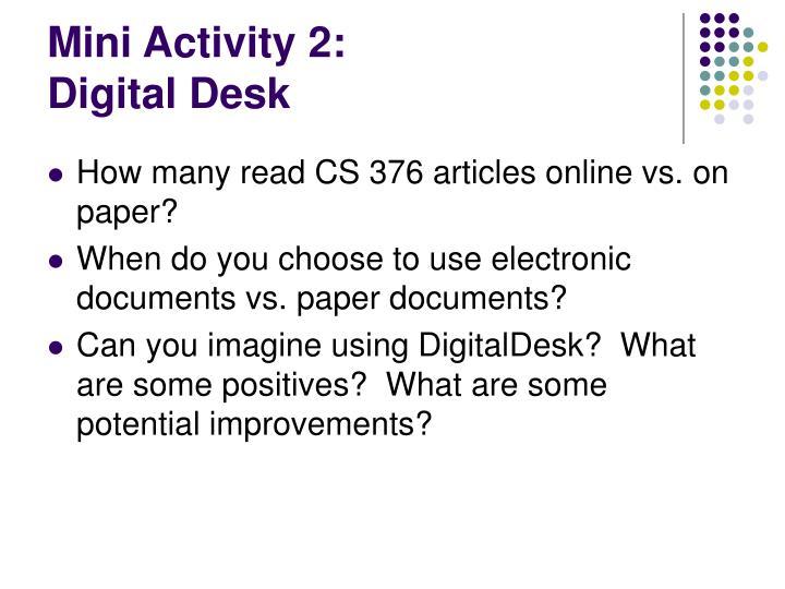 Mini Activity 2: