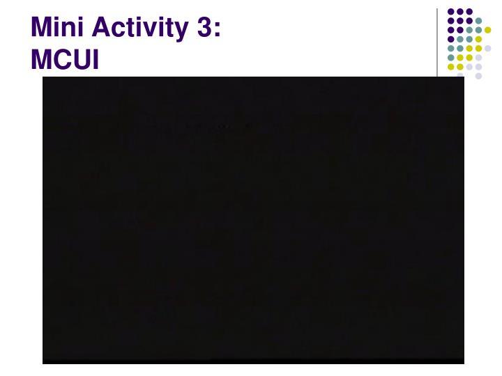 Mini Activity 3:
